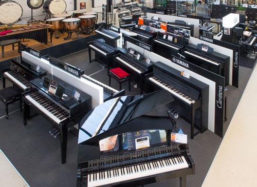 E-Pianos Clavinovas Tolle Präsentation im Musikhaus Beck