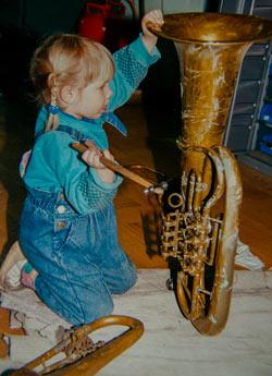 Schülerinstrument, etwas zu groß ...