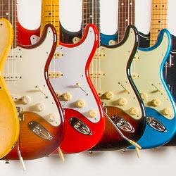 E-Gitarren im Musikhaus Beck