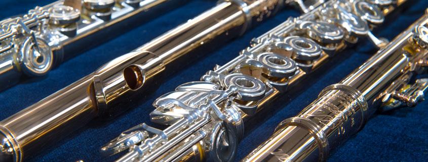 Goldflöten von Miyazawa im Musikhaus Beck