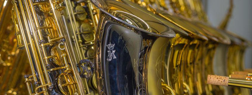 Saxophonauswahl aktueller Topmarken im Musikhaus Beck.