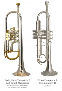 Vergleich Drehzylinder- und Périnettrompete