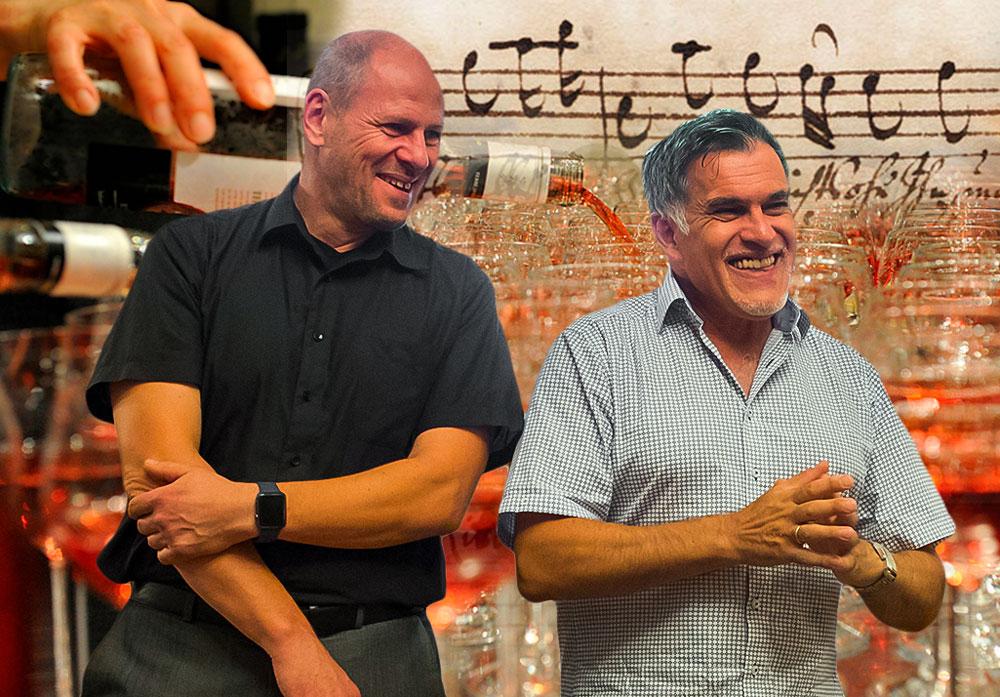 Matthias Beck und Evangelos Pattas, Veranstalter von Wein und Musik, ein Dettinger Genussabend für alle Sinne