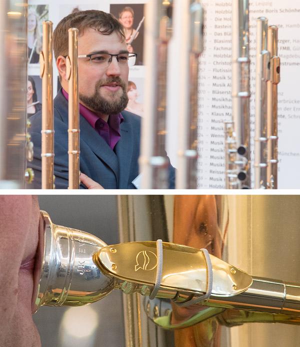 Flötenausstellung Miyazawa und LefreQue im Musikhaus Beck