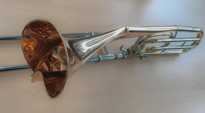 Versichere dein Instrument bei MML! Totalschaden einer unversicherten Posaune