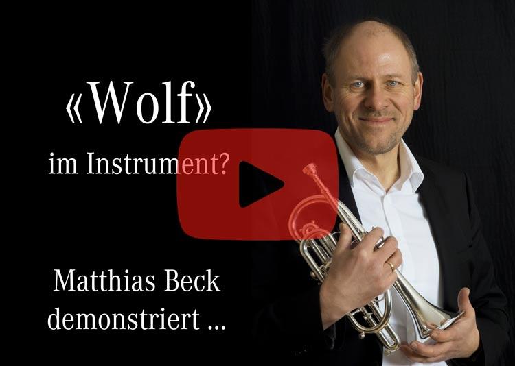 Video Matthias Beck beseitigt Wolfston einer Fanfare