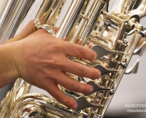 F-Tuba Melton Tradition. Tubaworkshop mit Peter Laib, Moop Mama und die Egerländer im Musikhaus Beck.