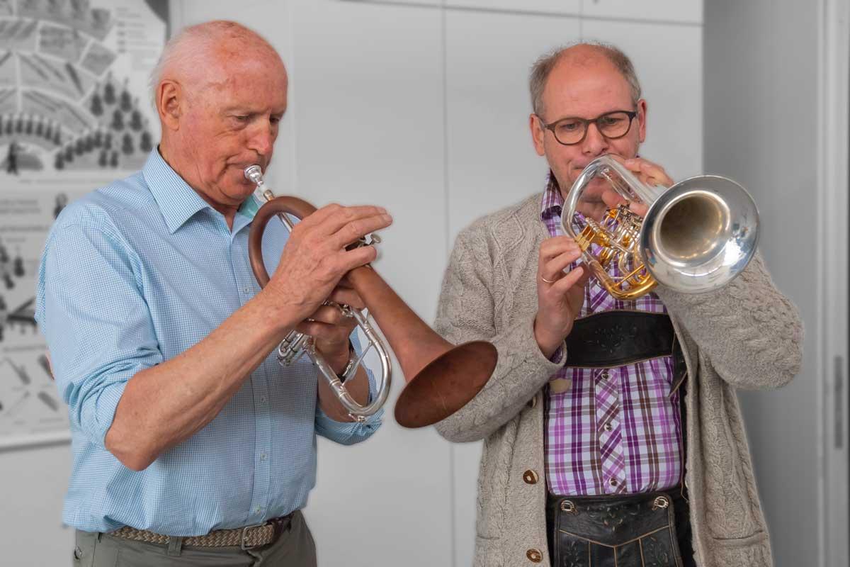 Peter Moser mit Matthias Beck Weisenblasen