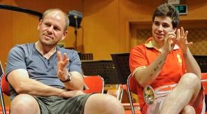 Wir wurden überrascht. Spontaner Workshop in kurzen Hosen! Matthias Beck und Rubén Simeó. China 2012