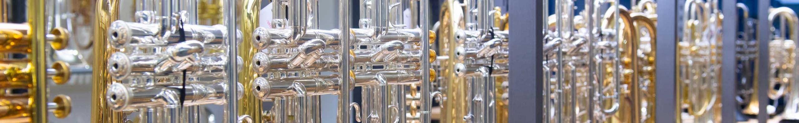 Bach Stradivarius Trompeten und Posaunen im Bach Pro Shop Musikhaus Beck