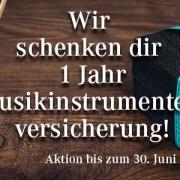 Musikinstrumentenversicherung 1 Jahr gratis im Musikhaus Beck