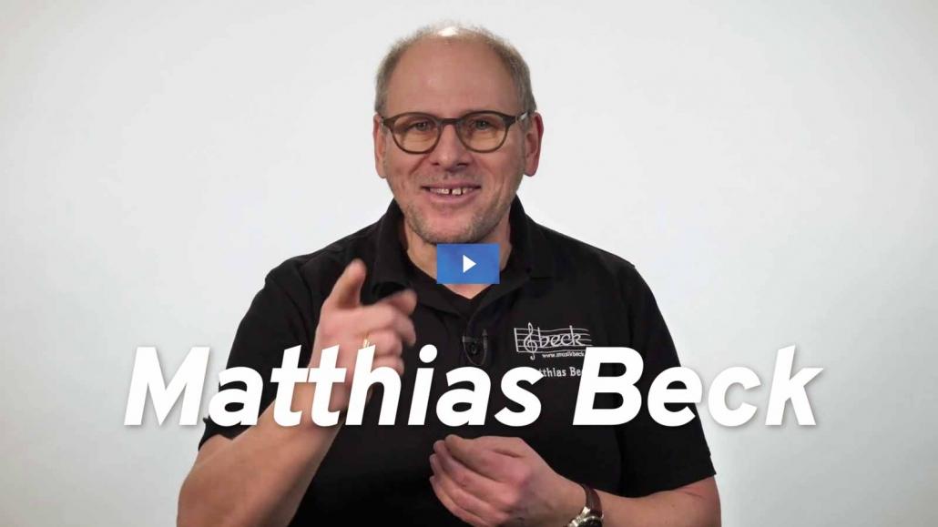 Matthias Beck: Du machst Musik, wir hören zu. Musikhaus Beck