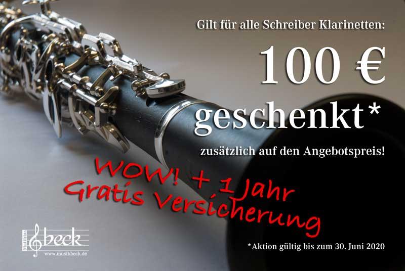 100 EURO geschenkt auf Schreiber Klarinetten