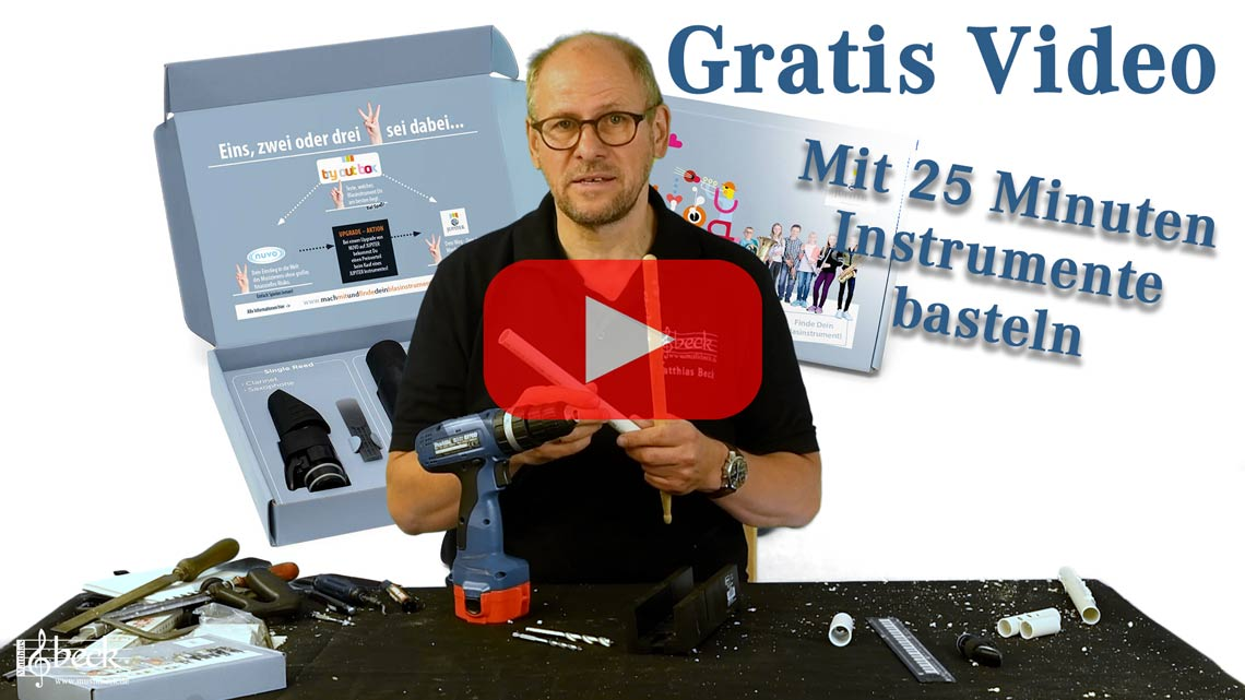 Finde dein Blasinstrument Gratis Video Mit 25 Minuten Instrumente basteln