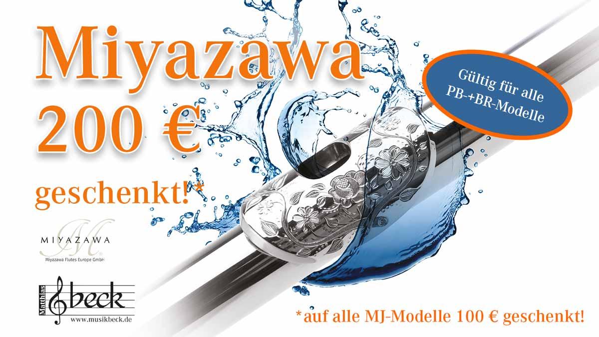 Miyazawa Flöten-Aktion 200 Euro geschenkt im Musikhaus Beck