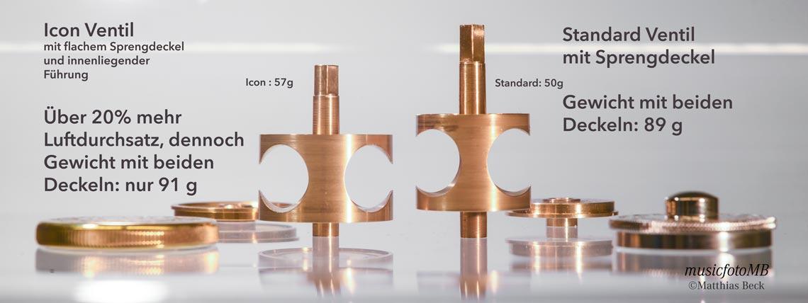 Ventilvergleich B&S MS14 ICON mit MS14 Standard