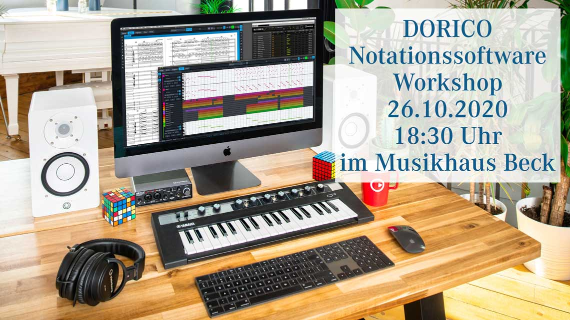 Dorico Notationssoftware Workshop im Musikhaus Beck